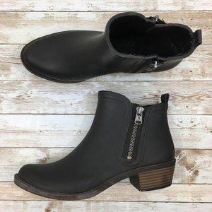 Lucky Brand Rain Booties (Black & Red - 2 pairs)